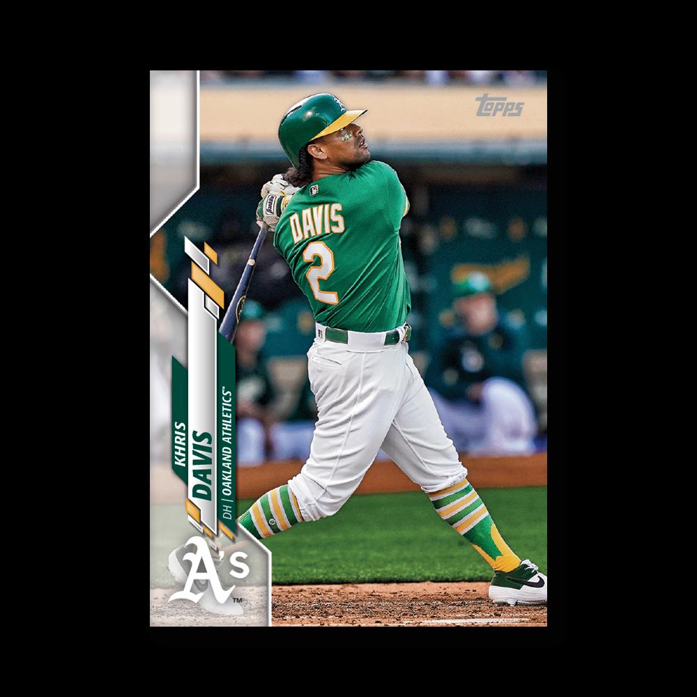 Khris Davis 2020 Topps Baseball Series 2 Base Poster # to 99