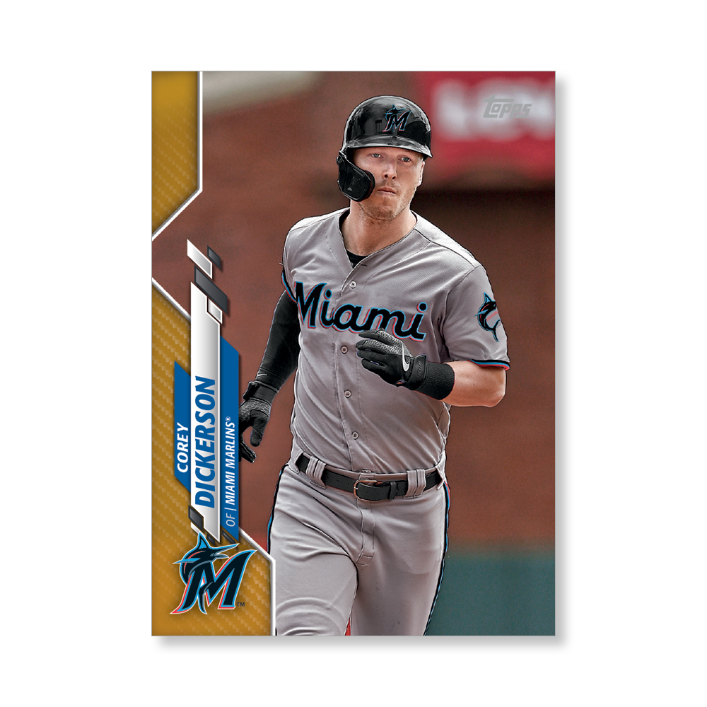 Corey Dickerson 2020 Topps Baseball Series 2 Base Poster Gold Ed. # to 1