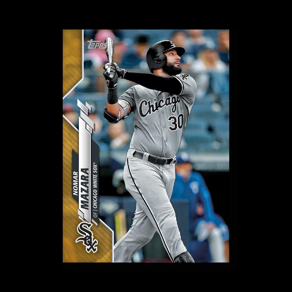 Nomar Mazara 2020 Topps Baseball Series 2 Base Poster Gold Ed. # to 1