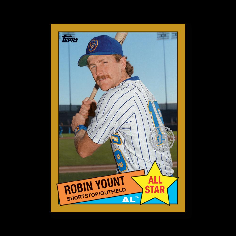 Robin Yount 2020 Topps Baseball Series 2 1985 TOPPS BASEBALL ALL STARS Poster Gold Ed. # to 1