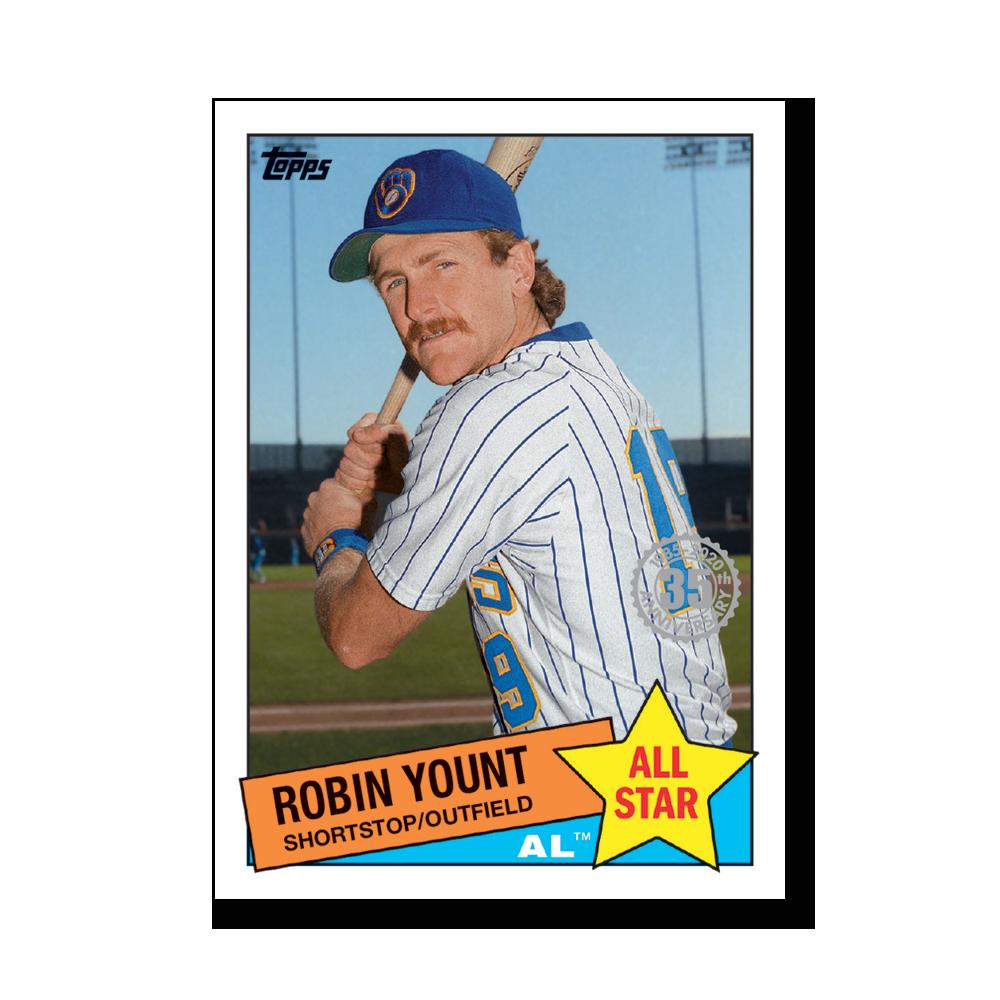 Robin Yount 2020 Topps Baseball Series 2 1985 TOPPS BASEBALL ALL STARS Poster # to 99