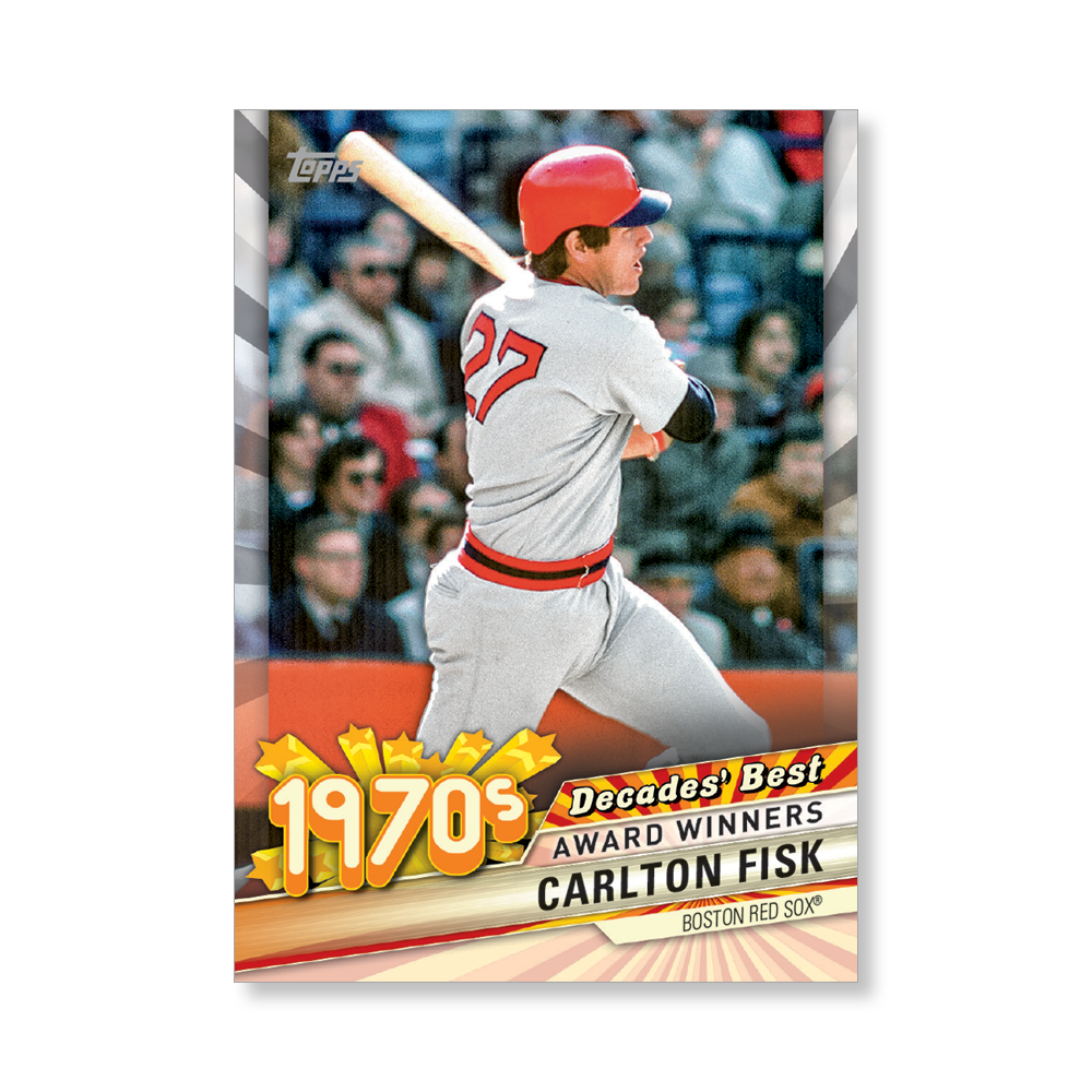 Carlton Fisk 2020 Topps Baseball Series 2 DECADES BEST Poster # to 99