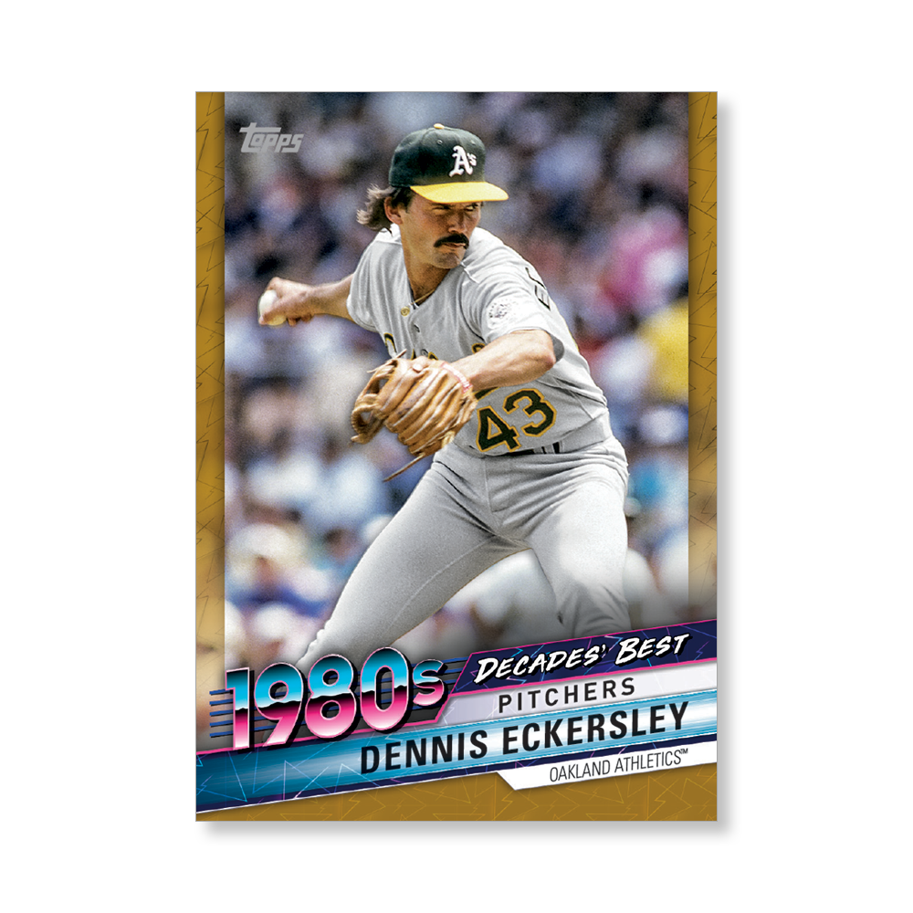 Dennis Eckersley 2020 Topps Baseball Series 2 DECADES BEST Poster Gold Ed. # to 1