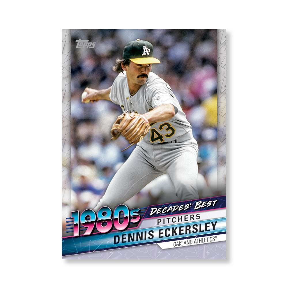 Dennis Eckersley 2020 Topps Baseball Series 2 DECADES BEST Poster # to 99