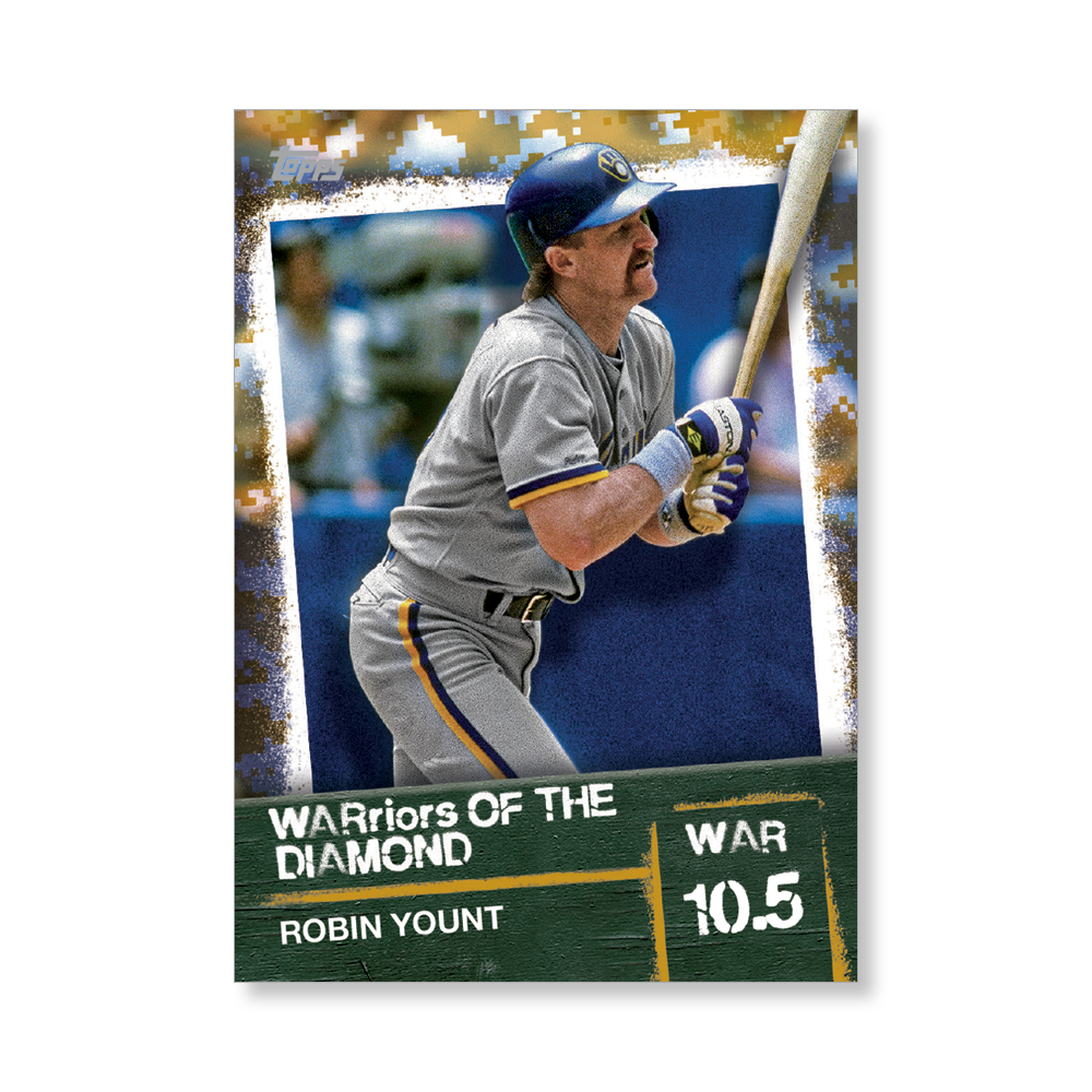 Robin Yount 2020 Topps Baseball Series 2 WARRIORS OF THE DIAMOND Poster Gold Ed. # to 1