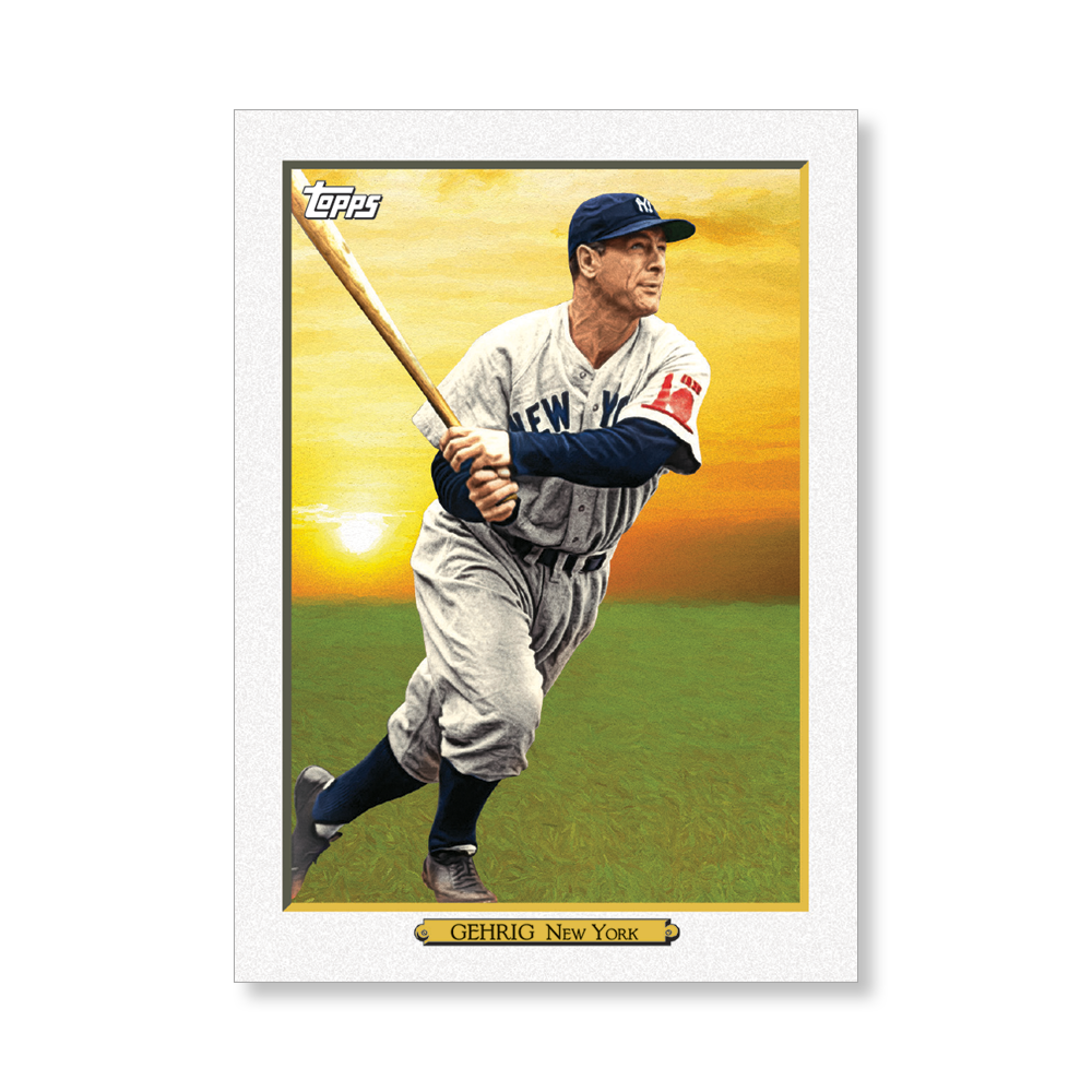 Lou Gehrig 2020 Topps Baseball Series 2 TURKEY RED 2020 Poster # to 99