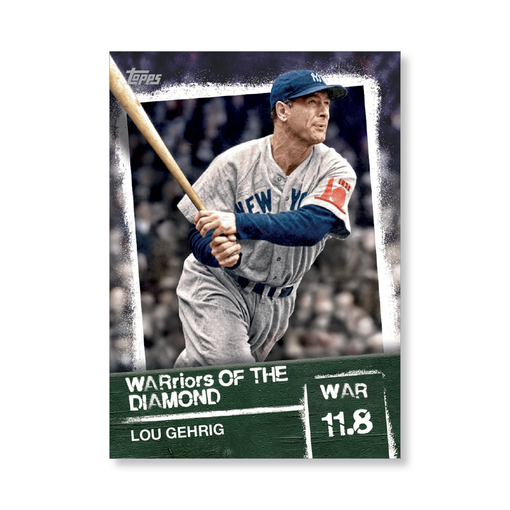Lou Gehrig 2020 Topps Baseball Series 2 WARRIORS OF THE DIAMOND Poster # to 99