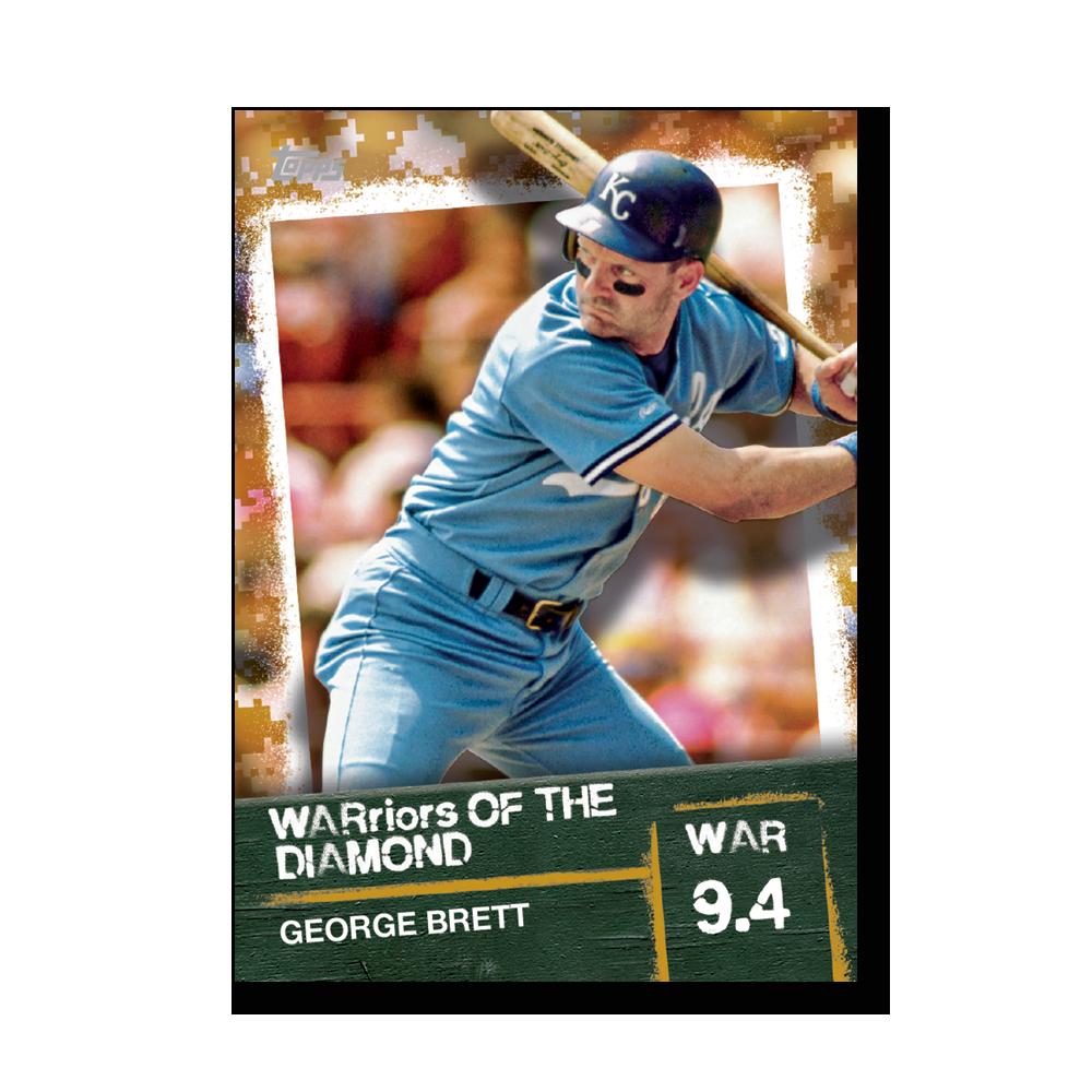 George Brett 2020 Topps Baseball Series 2 WARRIORS OF THE DIAMOND Poster Gold Ed. # to 1