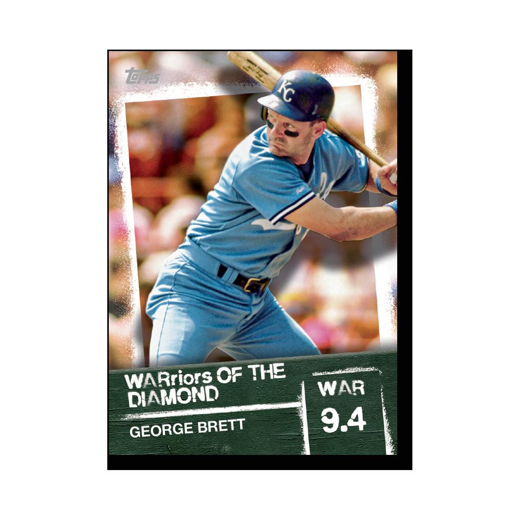 George Brett 2020 Topps Baseball Series 2 WARRIORS OF THE DIAMOND Poster # to 99
