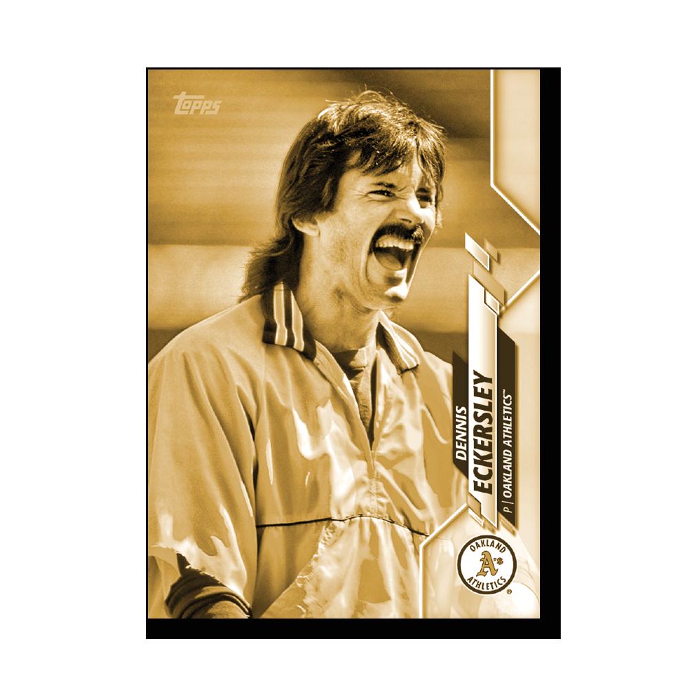 Dennis Eckersley 2020 Topps Baseball Series 2 BASE CARD SHORT PRINTS Poster Gold Ed. # to 1