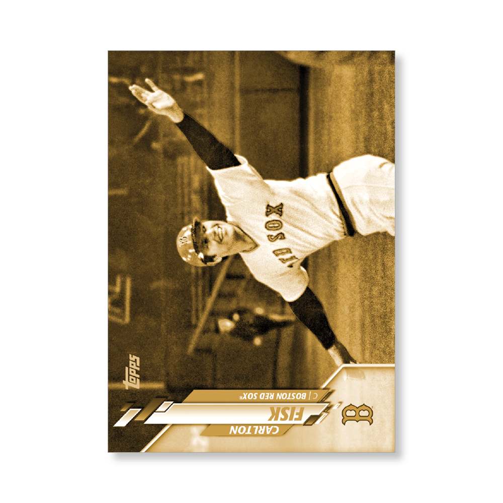 Carlton Fisk 2020 Topps Baseball Series 2 BASE CARD SHORT PRINTS Poster Gold Ed. # to 1