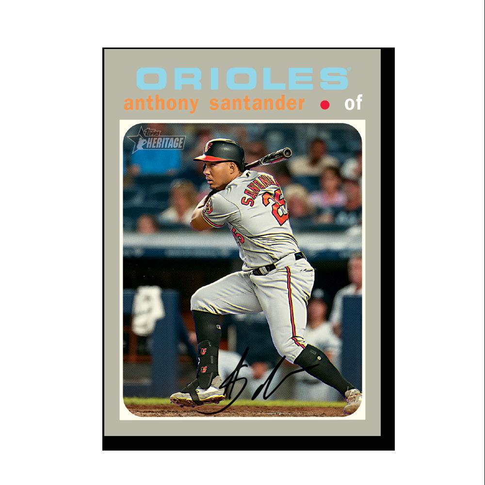 Anthony Santander 2020 Topps Heritage Baseball Base Cards Poster # to 99