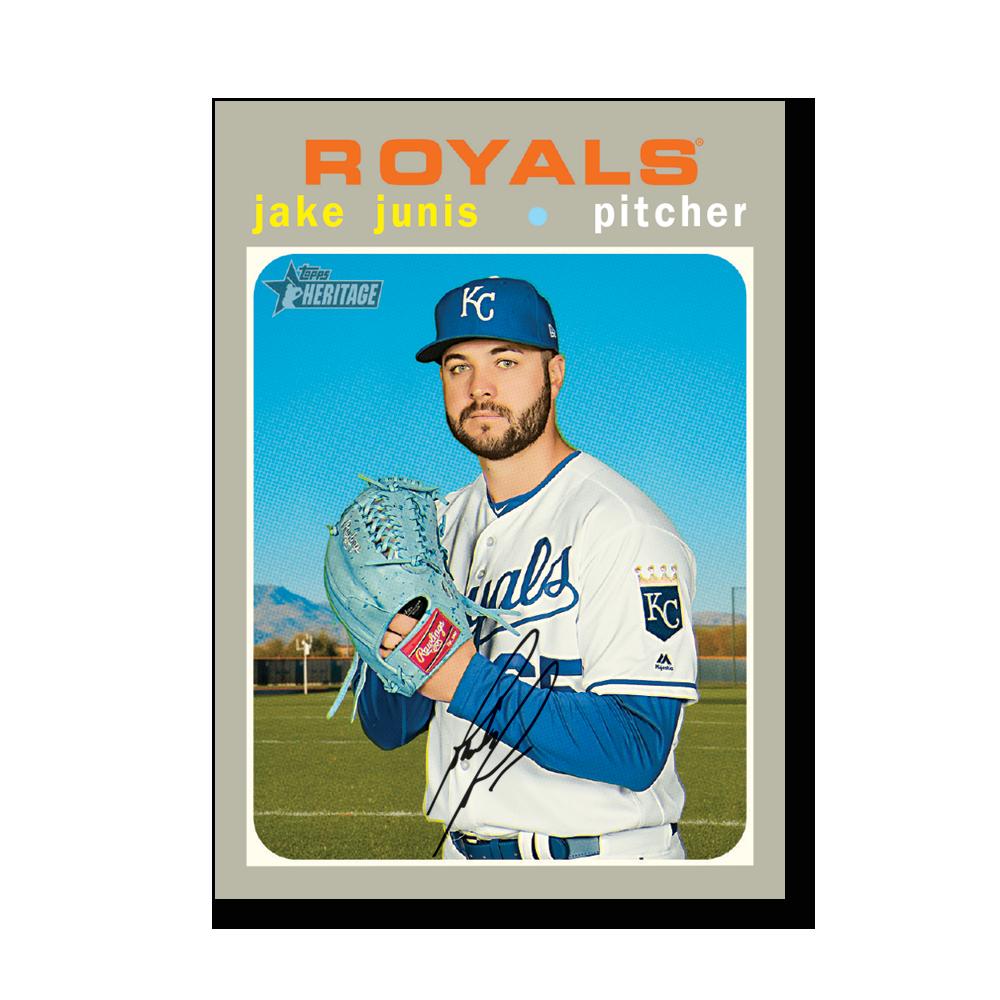 Jake Junis 2020 Topps Heritage Baseball Base Cards Poster # to 99