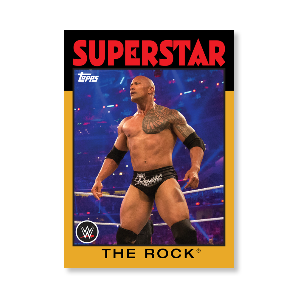 The Rock 2016 WWE Heritage Base Poster Gold Ed. – # to 1