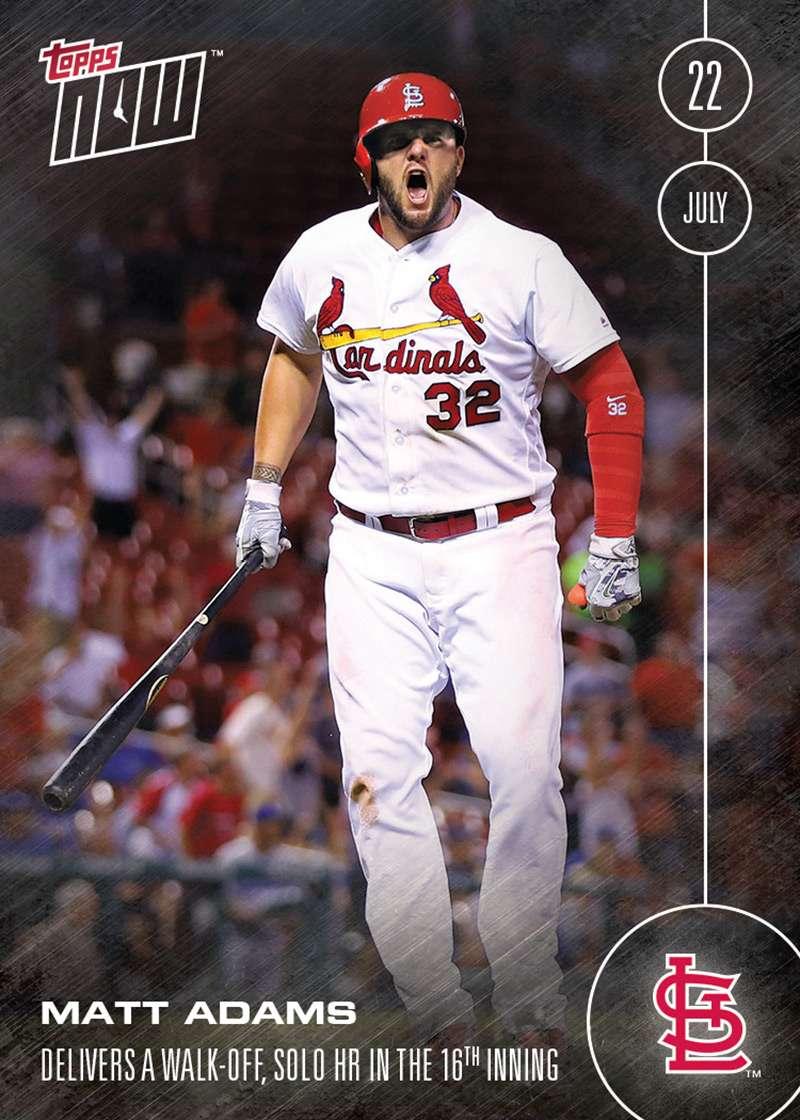 Matt Adams - 7/22/16 TOPPS NOW® Card 275 - Print Run: 319