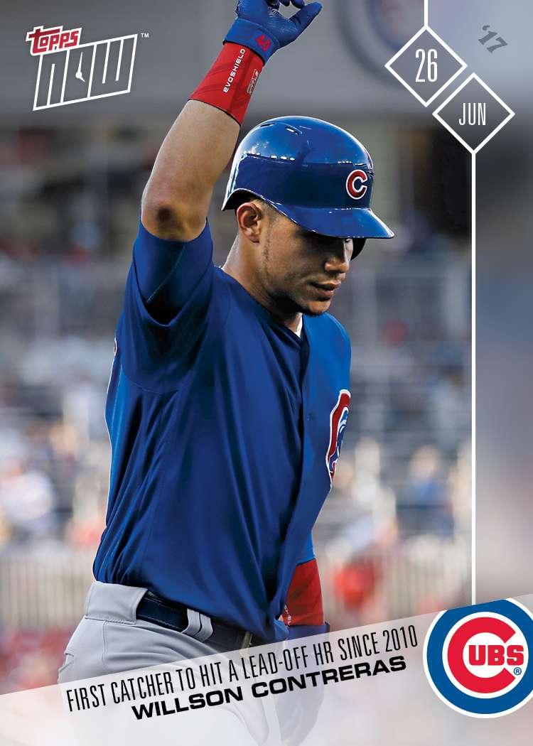 Willson Contreras - 06/26/2017 TOPPS NOW® Card 293 - Print Run: 337