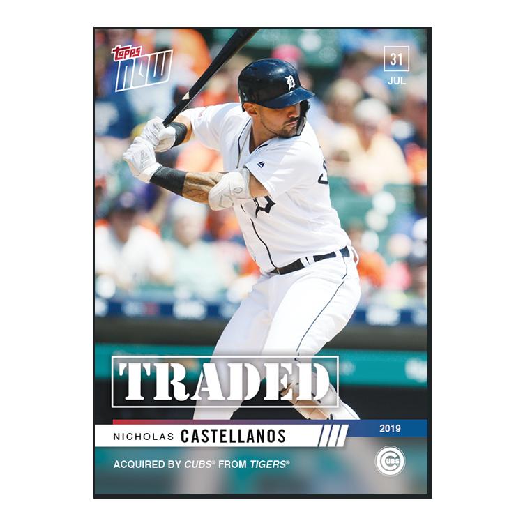 Nicholas Castellanos - MLB TOPPS NOW® Card 611 - Print Run: 204