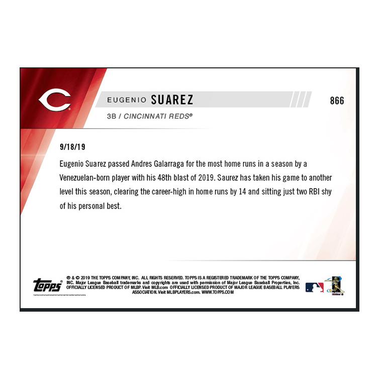 Eugenio Suarez  - MLB TOPPS NOW® Card 866 - Print Run: 339