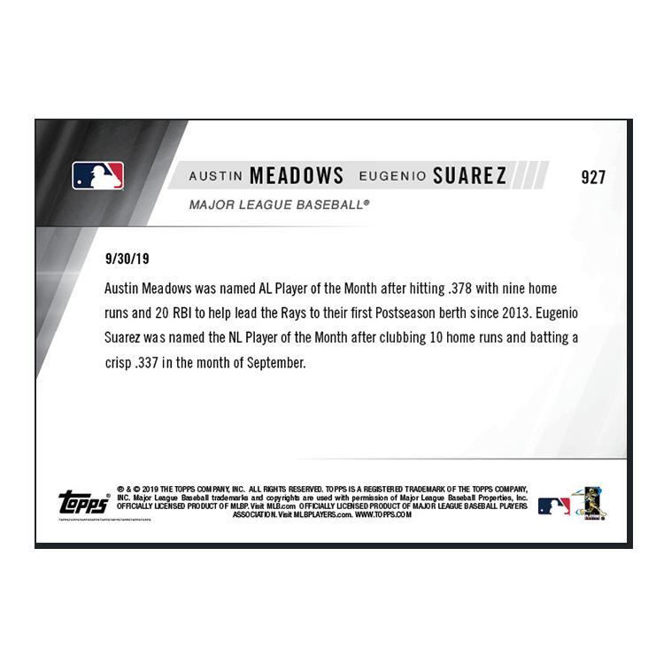 Meadows/Suarez  - MLB TOPPS NOW® Card 927 - Print Run: 314