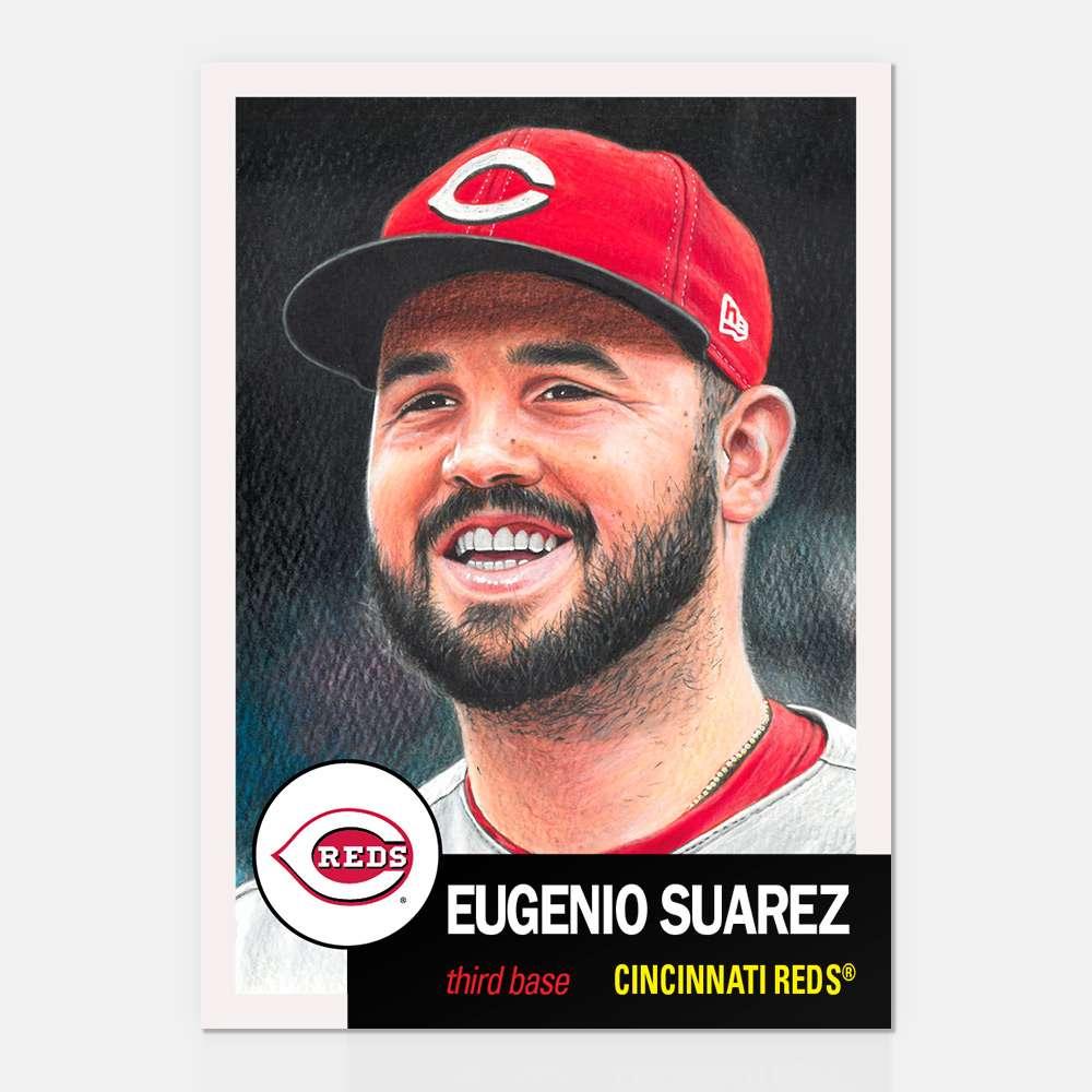Topps Living Set Card #128 - Eugenio Suarez - Print Run: 3766