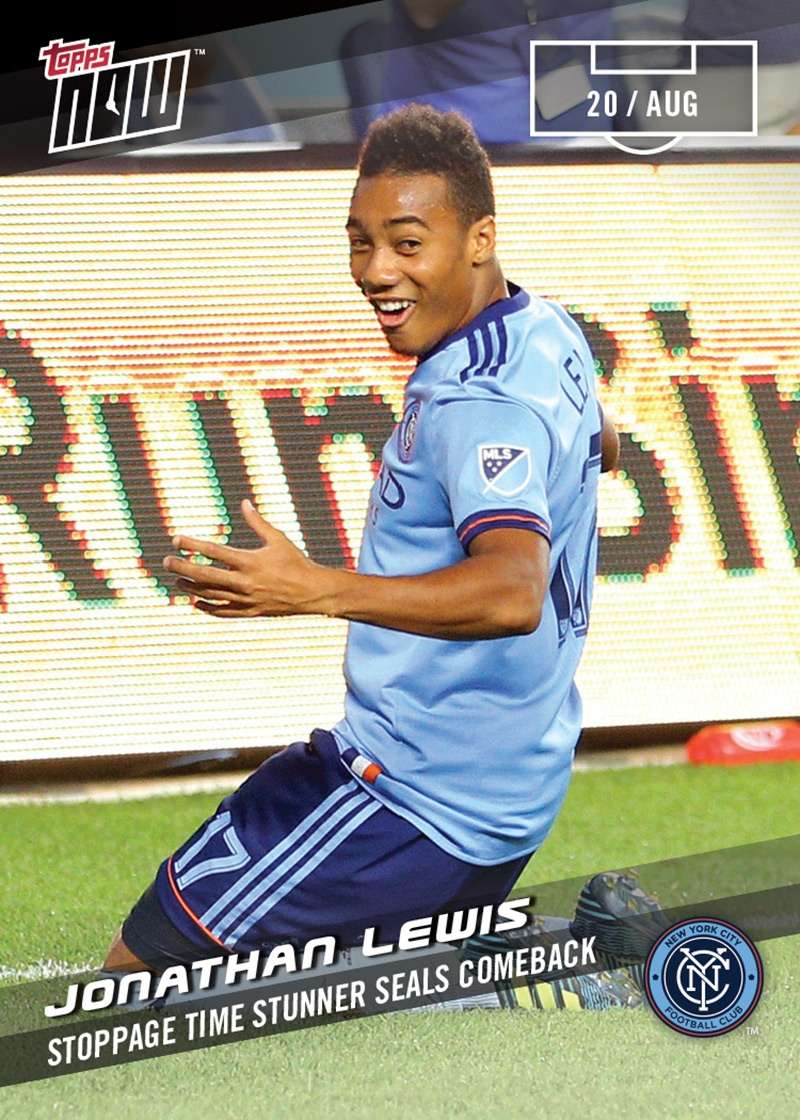Stoppage Time Stunner Seals Comeback - Jonathan Lewis MLS Topps NOW™ 66 PRINT RUN QTY: 52 CARDS