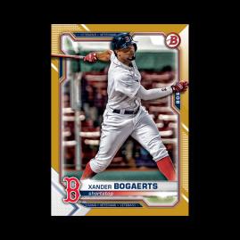 Xander Bogaerts 2021 Bowman Baseball Base Card Poster Gold Ed. # to 1