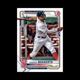 Xander Bogaerts 2021 Bowman Baseball Base Card Poster # to 99