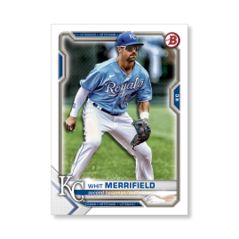 Whit Merrifield 2021 Bowman Baseball Base Card Poster # to 99