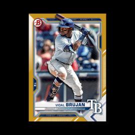 Vidal Brujan 2021 Bowman Baseball Paper Prospects Poster Gold Ed. # to 1