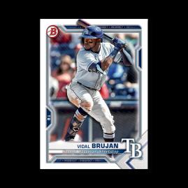 Vidal Brujan 2021 Bowman Baseball Paper Prospects Poster # to 99