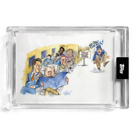 """2021 Topps x ESPN 30for30 - """"Once Upon a Time in Queens"""" - Card #3 - Hey! Up Front! by Joey Paints"""
