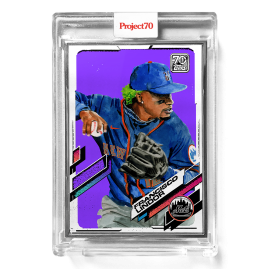 Topps Project70® Card 562 -  2021 Francisco Lindor by Jacob Rochester  - Artist Proof # to 51