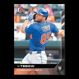 Tim Tebow - Bowman NEXT - Card TT - Print Run: 1607