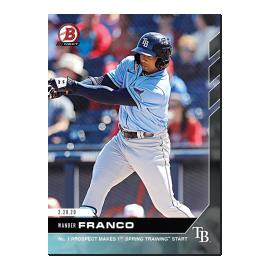 Wander Franco - Bowman NEXT - Card WF - Print Run: 1247