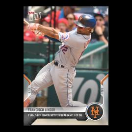 Francisco Lindor  - 2021 MLB TOPPS NOW® Card 381