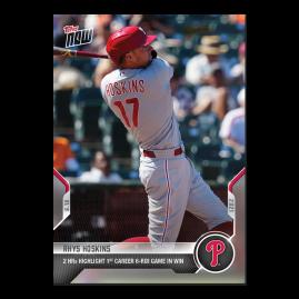 Rhys Hoskins  - 2021 MLB TOPPS NOW® Card 384