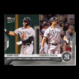 Aaron Judge / Giancarlo Stanton  - 2021 MLB TOPPS NOW® Card 868