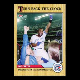 Joe Carter  - 2021 MLB TOPPS NOW® Turn Back The Clock - Card 206