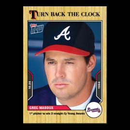 Greg Maddux  - 2021 MLB TOPPS NOW® Turn Back The Clock - Card 207