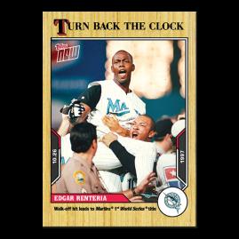 Edgar Renteria  - 2021 MLB TOPPS NOW® Turn Back The Clock - Card 209