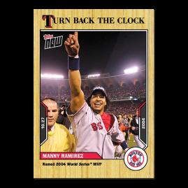 Manny Ramirez  - 2021 MLB TOPPS NOW® Turn Back The Clock - Card 210