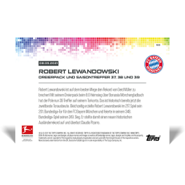 Dreierpack und Saisontreffer 37, 38 und 39  - Bundesliga TOPPS NOW® Card #183