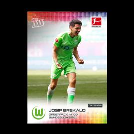 Dreierpack im 100. Bundesliga-Spiel  - Bundesliga TOPPS NOW® Card #186