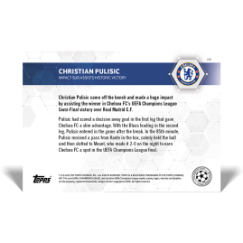 Impact sub assists historic victory  - UCL TOPPS NOW® DE Karten #76