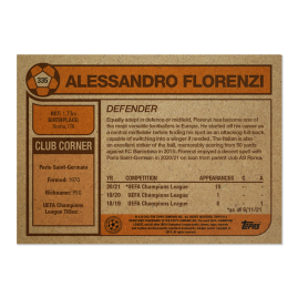 Topps UK - UCL Living Set Card #335 - Alessandro Florenzi