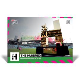 The tournment begins at the Oval - The Hundred TOPPS NOW® UK Card #1