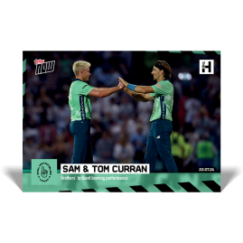 Brothers' brilliant bowling performance - The Hundred TOPPS NOW® UK Card #4