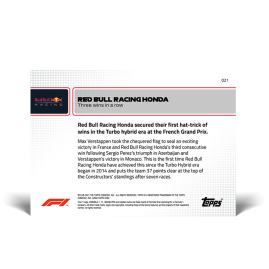 Three wins in a row - F1 TOPPS NOW® DE Card #21