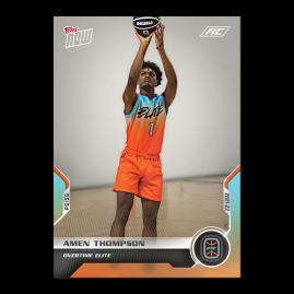 Amen Thompson  - 2021 Overtime Elite TOPPS NOW® Debut Card D-18