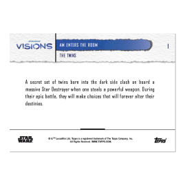 2021 Star Wars Visions TOPPS NOW® - 5-Card Pack - The Twins